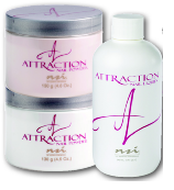 ***SPECIAL OFFER*** NSI Attraction Acrylic powders - Promotion pack buy 2 x 13og acrylic powder get 4oz liquid free