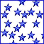 BLUE STARS acrylic rhinestones ***ONLY 10p PER PACK***