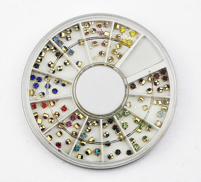 3D NAIL ART RHINESTONE WHEEL 249