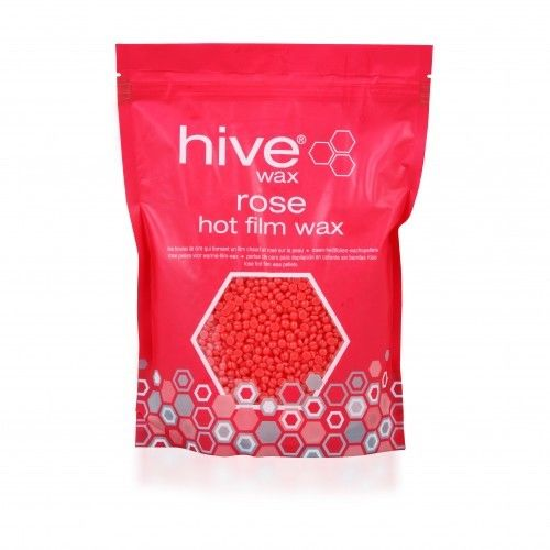 Rose Hot Film Wax Pellets by Hive - 700g